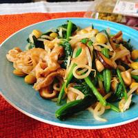 すぐできる簡単ボリュームおかずです♬ぶた野菜のソース炒め✨
