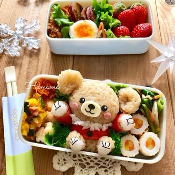 《キャラ弁》モカのクリスマスのお弁当♡作り方♡最近作ったもの