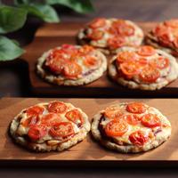 トマトたっぷり!ヘルシーなサクッとオートミールピザ