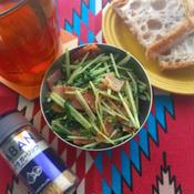 ベーコンと水菜の香ばしサラダ