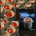 イチゴとヨーグルトのムース