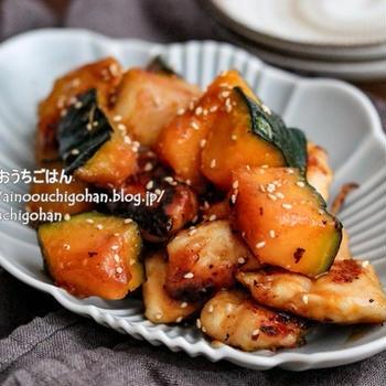 【材料2つ】10分でできるメインレシピ!疲労回復にも♡かぼちゃの黒酢炒め