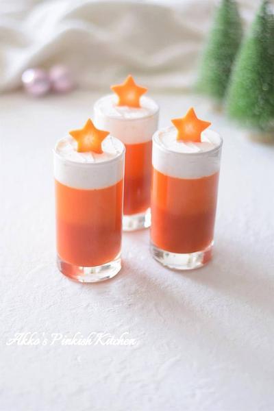 【おもてなし】2種の野菜ジュースのクリスマスゼリー 市販の野菜ジュースで簡単ベジタブルデザート