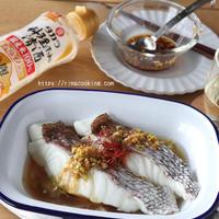【レシピ】鯛と新玉ねぎのフライパン酒蒸し〜香味だれ〜