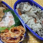 遠足や運動会や文化祭にも♪きのこご飯のお弁当 by はーい♪にゃん太のママさん