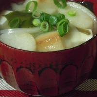豆腐と麩の味噌汁・BRITA水