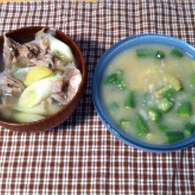 鯛のあら汁で作る米粉おかゆ