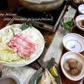 ◆豚バラと白菜でとりあえず鍋とイサキの干物♪~緩やか糖質制限中♪