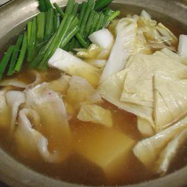 ☆湯葉と豆腐、豚バラのあっさり鍋☆