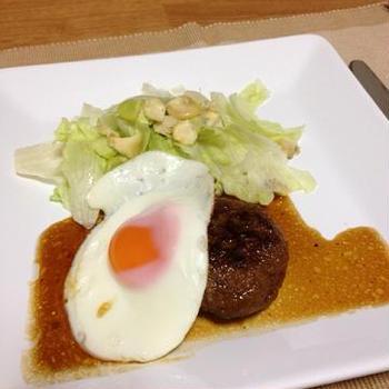 日本食研 ハンバーグ作り&煮込んでおいしいてりやきソース ☆目玉焼きのっけ☆