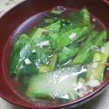 チンゲン菜の干しエビスープ