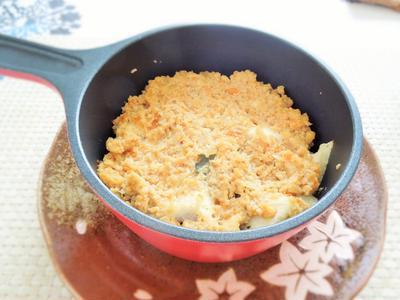 ◇高野豆腐のメープル醤油そぼろ ➡豆乳と西京みそのチーズ入りドリア