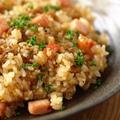 ガーリックライス 、 食べるスパイスで簡単レシピ