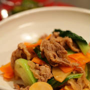 豚肉と青梗菜の中華炒め