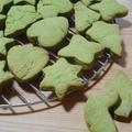 抹茶の型抜きクッキー