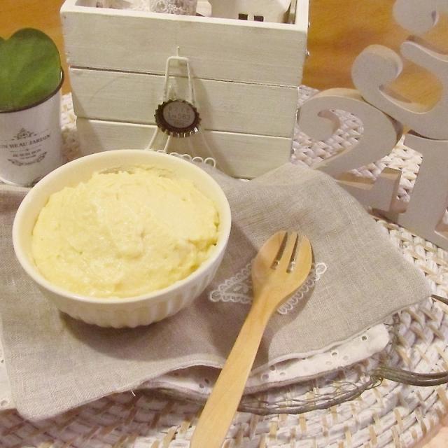 レンジで簡単!お米の粉で作るカスタードクリーム♡