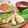 くるくる「谷中生姜(葉生姜)の豚肉巻き」のレシピ