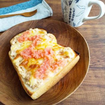 レシピ掲載♪明太ツナマヨチーズトースト