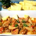 カリブ海風豚肉のパイナップルジュース煮