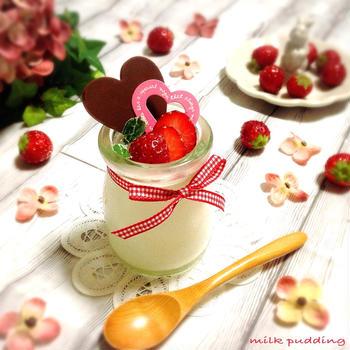 【レシピ】簡単!!とろ〜りミルクプリン♪