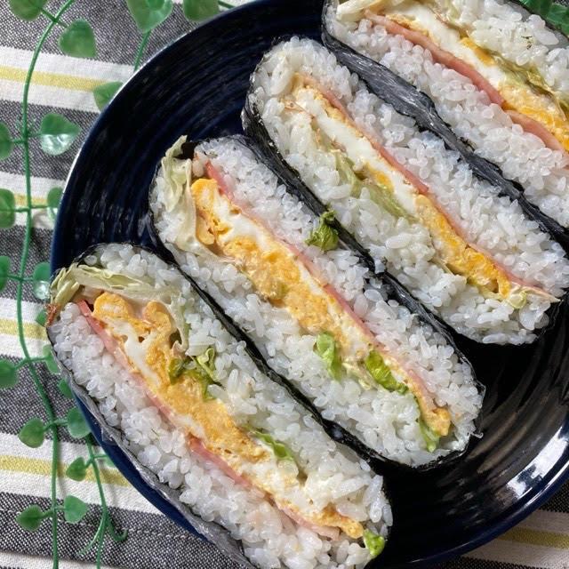 お弁当にも♡ベーコンと玉子のおにぎらず【#簡単レシピ#節約#時短#お昼ご飯#お花見】