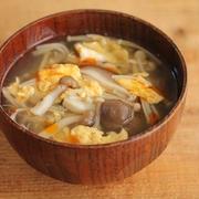簡単・汁物♪キノコと卵の中華スープ