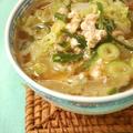 白菜と豚にらのスタミナスープ