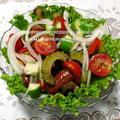 <ゴーヤと夏野菜のモリモリ温サラダ♪> by はーい♪にゃん太のママさん