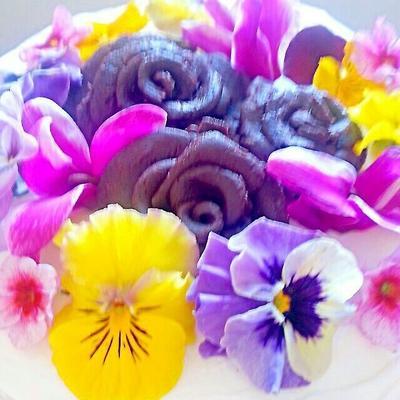 初めてのプラチョコの薔薇とダブルチーズケーキ