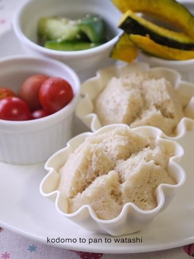【手作りお菓子】シンプル蒸しパン/ノンオイルノンエッグ