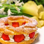 ホットケーキミックスHMで簡単お菓子♡パリブレスト♡母の日や父の日に