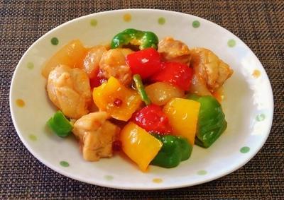 うまし☆鶏肉とパプリカの豆板醤甘酢炒め♪☆♪☆♪