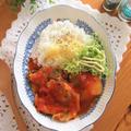 手羽先と丸ごと新玉ねぎのトマト煮