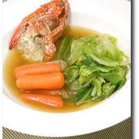 渡り蟹とキャベツのブイヤベース風煮込み