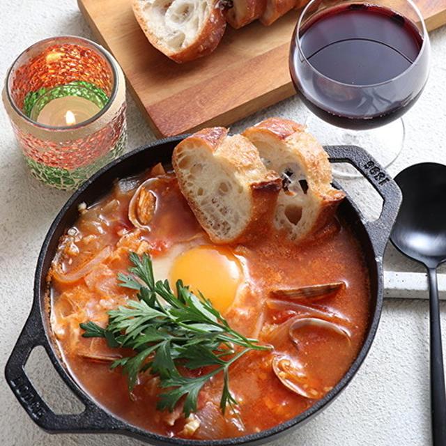 【動画あり】あさり入りスペイン風にんにくスープ