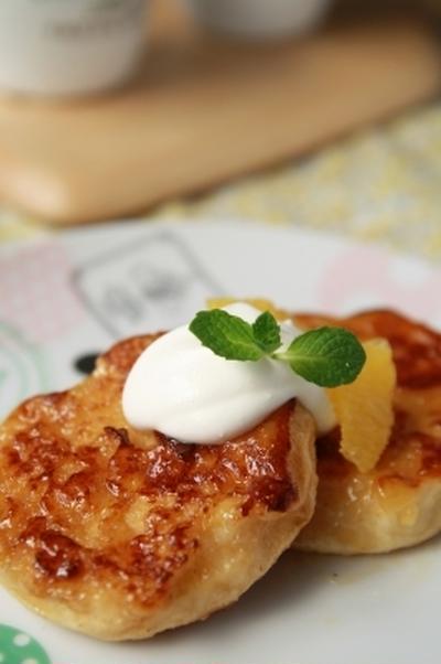 私のとっておきパンレシピ「イングリッシュマフィンdeフレンチトースト」
