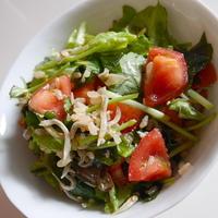 ブラウンライスで、春の味サラダ