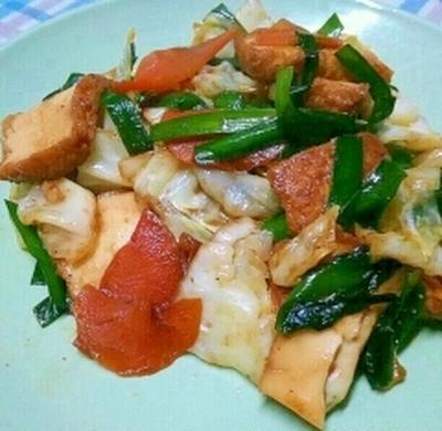 ご飯がすすむ☆厚揚げと野菜の甘辛炒め