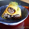 ひじきご飯と薄焼き卵のアレンジ恵方巻き