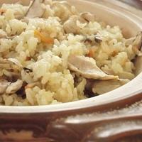 土鍋で!サフラン香る鶏ごぼうご飯