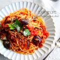 ♡あっさりこくうま♡ひき肉となすのトマトパスタ♡【#簡単#時短#節約#連載】