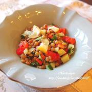 水戻し不要で使いやすい!栄養豊富な「レンズ豆のサラダ」