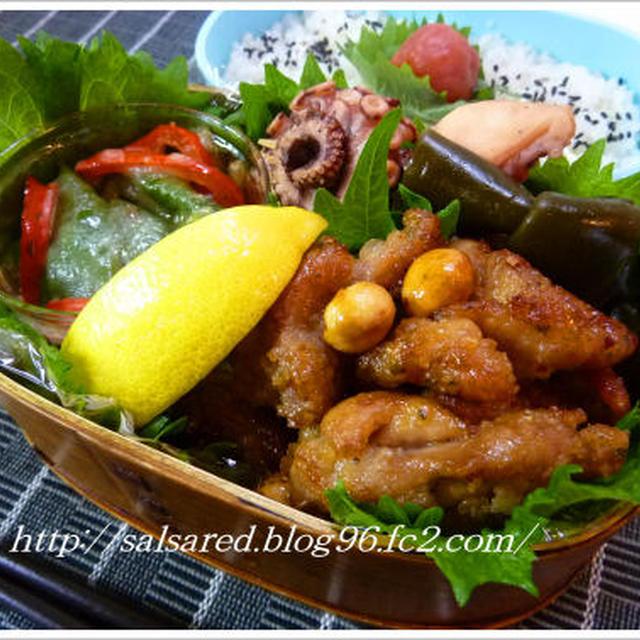 鶏肉のメープルシロップ煮 タコの昆布煮 お弁当に