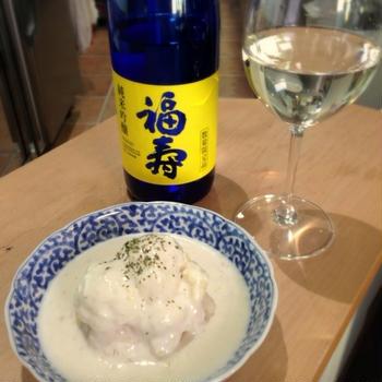 福寿 純米吟醸×カリフラワーのクリームスープがけ