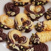 バニラ・ココア・マーブルの絞り出しクッキー