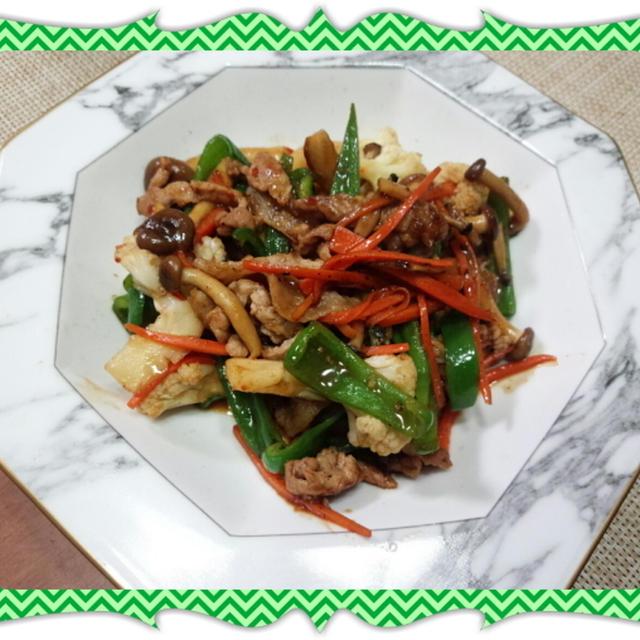 豚肉と野菜のスイートチリ&オイスターソース炒め