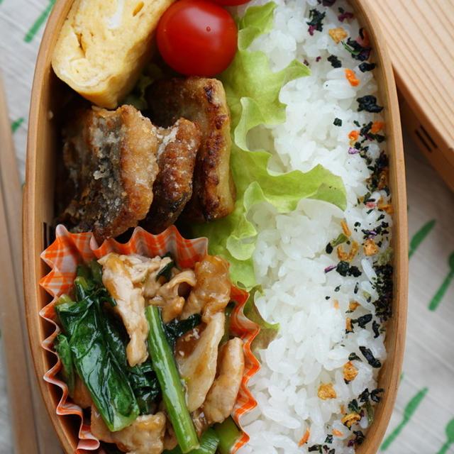 お弁当に♪水気が出ない「小松菜と豚肉の炒め物」