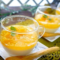 とろとろ豆乳プリン♪フレッシュオレンジジュレソース