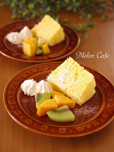 レンジで簡単♪ホットケーキミックス(HM)の優しいシフォンケーキ☆ふんわり時短&節約レシピ