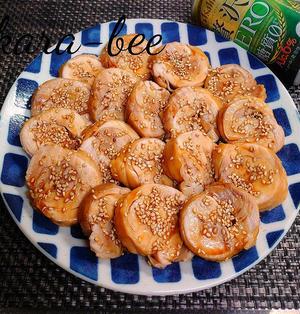 お弁当にも◎レンジで簡単♪基本の甘辛鶏チャーシュー